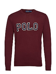 Cotton Crewneck Sweater - CLASSIC WINE/NAVY
