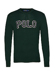 Cotton Crewneck Sweater - COLLEGE GREEN/NAV