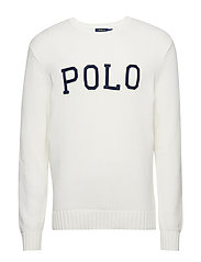 Cotton Crewneck Sweater - WHITE
