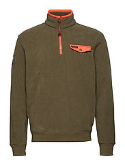 Fleece Half-Zip Pullover - DEFENDER GREEN