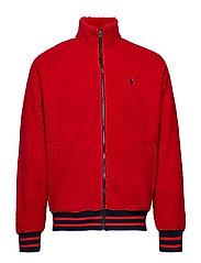 Faux-Sherpa Baseball Jacket - RL 2000 RED