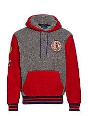 Colorblocked Fleece Sweatshirt