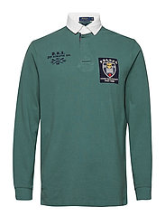 Classic Fit Mesh Rugby Shirt - WASHED FOREST