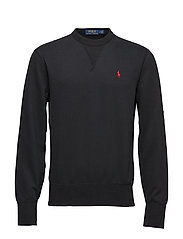 Cotton-Blend-Fleece Sweatshirt - POLO BLACK