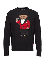 Lunar New Year Bear Sweater - BLACK