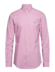 Slim Fit Gingham Cotton Shirt - 3011D PINK/WHITE
