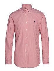 Slim Fit Gingham Cotton Shirt - 3012A BERMUDA RED