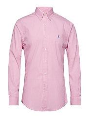 Slim Fit Gingham Cotton Shirt - 3012B PINK/WHITE