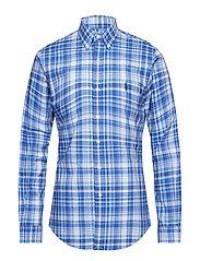Slim Fit Gingham Cotton Shirt - 3014 MACKENZIE BL