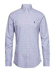Slim Fit Gingham Cotton Shirt - 3017A BLUSH/NAVY