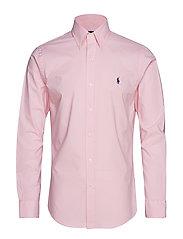 Slim Fit Gingham Cotton Shirt - CARMEL PINK