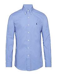 Slim Fit Gingham Cotton Shirt - PERIWINKLE BLUE
