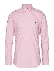 Slim Fit Plaid Poplin Shirt - CARMEL PINK