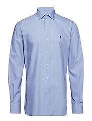 Slim Fit Plaid Poplin Shirt - PERIWINKLE BLUE