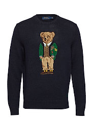 LS BEAR CN-LONG SLEEVE-SWEATER - NAVY YALE BEAR