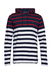 Striped Cotton Hooded Tee - WHITE MULTI