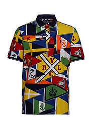 Classic Fit Mesh Polo - RLYC BURGEE FLAG