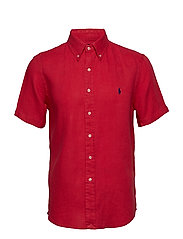 Classic Fit Linen Shirt - BERMUDA RED
