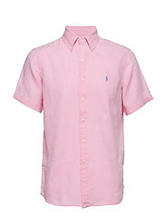 Classic Fit Linen Shirt - HARBOR PINK