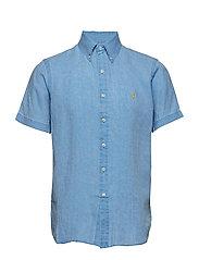 Classic Fit Linen Shirt - RIVIERA BLUE