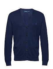 LS VN CARDI-LONG SLEEVE-SWEATER - DARK COBALT
