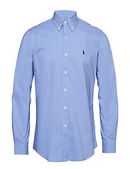Classic Fit Gingham Cotton Shirt - PERIWINKLE BLUE
