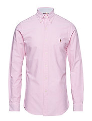 Slim Fit Gingham Oxford Shirt - NEW ROSE