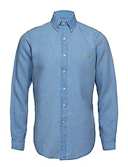 BD PPC SPT-LONG SLEEVE-SPORT SHIRT - RIVIERA BLUE