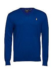 Slim Fit Cotton V-Neck Sweater - HERITAGE ROYAL