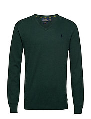Slim Fit Cotton V-Neck Sweater - SCOTCH PINE HEATH