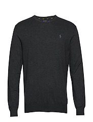 LS SF CN PP-LONG SLEEVE-SWEATER - DARK CHARCOAL HEA