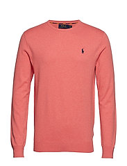 LS SF CN PP-LONG SLEEVE-SWEATER - DUSTY PEACH HEATH