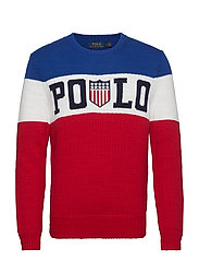 Striped Cotton Sweater - ROYAL MULTI