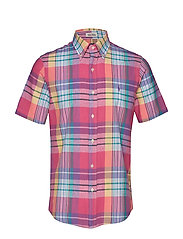 Custom Fit Madras Shirt - 4013 RED MULTI