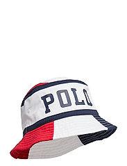 Polo Cotton Twill Bucket Hat - RL 2000 RD/PR WHT