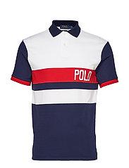 Custom Slim Fit Interlock Polo - WHITE MULTI