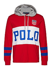 Cotton Jersey Hooded Tee - RL 2000 RED MULTI