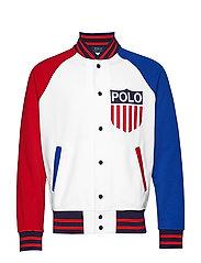 Polo Shield Baseball Jacket - WHITE MULTI