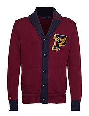 Cotton Letterman Cardigan - CLASSIC WINE/NAVY