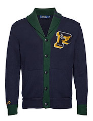 Cotton Letterman Cardigan - HUNTER NAVY/COLLE