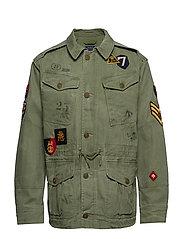 Herringbone Twill Jacket - ARMY OLIVE