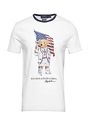 Custom Slim Fit Polo Bear Tee - WHITE