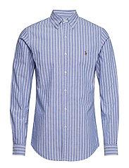 Slim Fit Plaid Oxford Shirt - 4042 BLUE/WHITE
