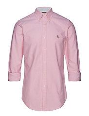 Slim Fit Plaid Oxford Shirt - NEW ROSE