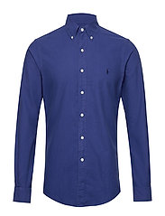 Slim Fit Cotton Oxford Shirt - BLUE YACHT