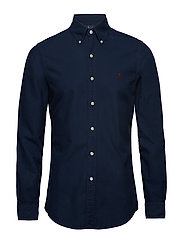 Slim Fit Cotton Oxford Shirt - CRUISE NAVY