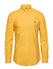 Slim Fit Cotton Oxford Shirt - GOLD BUGLE