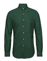 Slim Fit Cotton Oxford Shirt - STUART GREEN