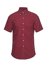 Slim Fit Oxford Shirt - AUBERGINE