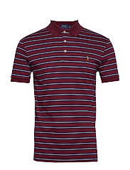 Slim Fit Interlock Polo Shirt - CLASSIC WINE MULT
